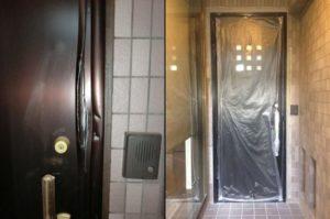 愛知県名古屋市東区「ドロボウ被害に遭われたとご連絡をいただきました」ドロボウによる被害 玄関ドア工事会社【株式会社サッシ.NET】