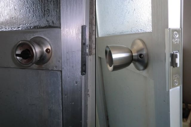 愛知県名古屋市緑区 「ドアが開かなくて困っていたので良かったです!」浴室ドア不具合 浴室改修工事店 ドアノブ取替工事【株式会社サッシ.NET】
